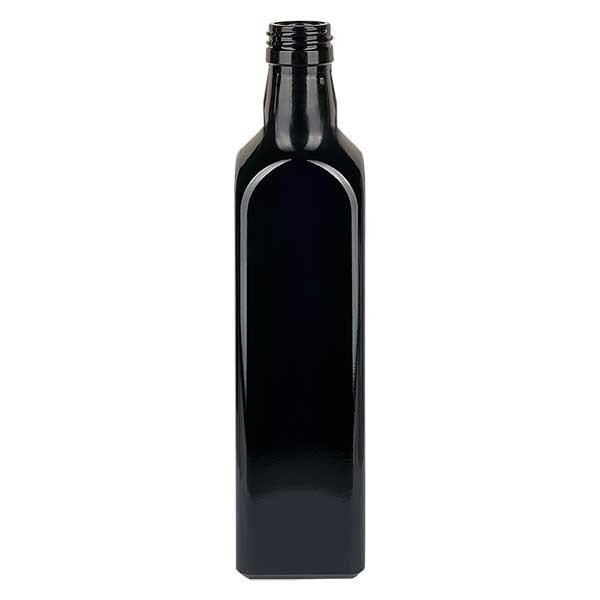 Bouteille d'huile rectangulaire en verre violet 1000 ml, UNI 31,5x24