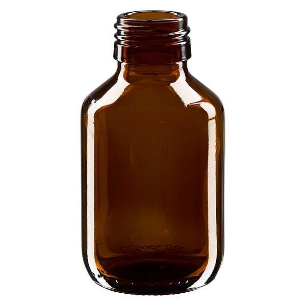 Flacon médical 100 ml couleur ambrée, PP 28