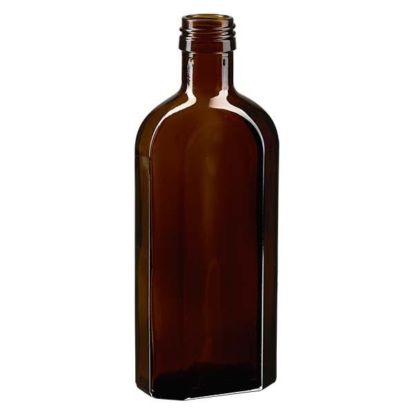 Flasque brune de 250 ml, au goulot PP 28