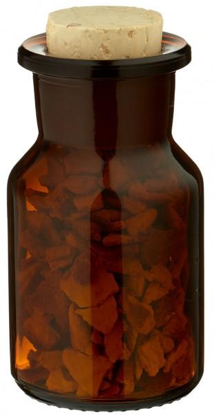 Gewürzglas Idee: 50 ml Steilbrustflasche Weithals Braunglas inkl. Korken