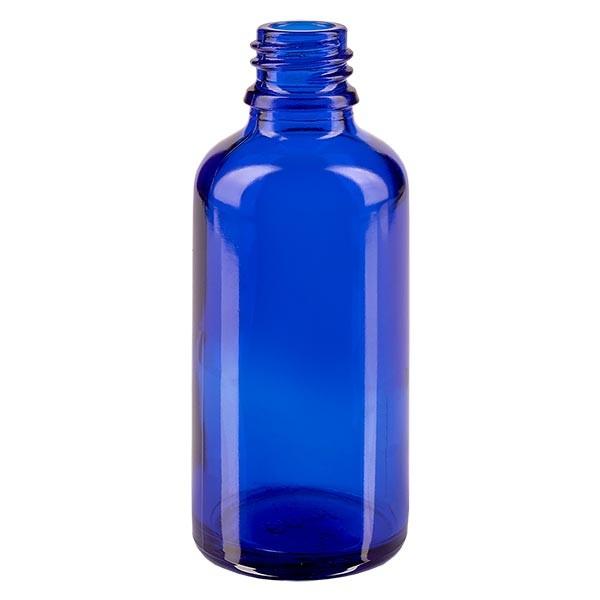 Flacon compte-gouttes pharmaceutique 50 ml DIN18 - verre bleu