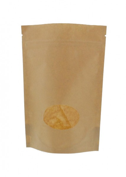 Sachet vertical en papier kraft marron (capacité : environ 250g / 160x230)