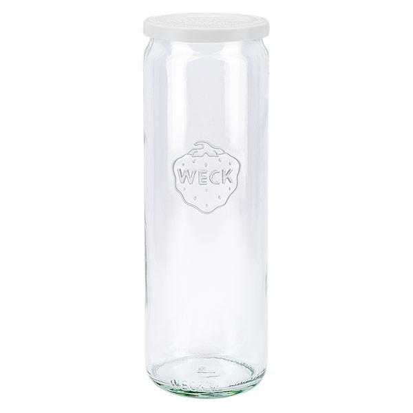 Bocal cylindre WECK 600ml avec couvercle fraîcheur en plastique