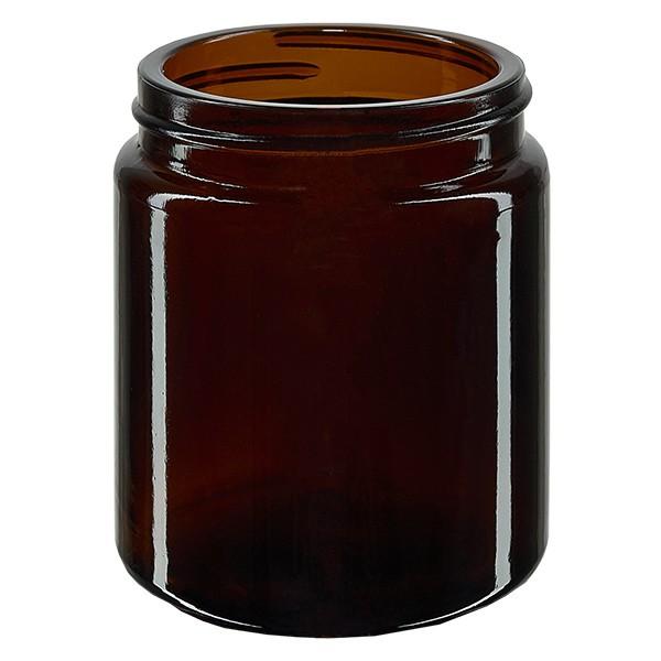 Pot en VERRE AMBRÉ 100 ml, sans couvercle