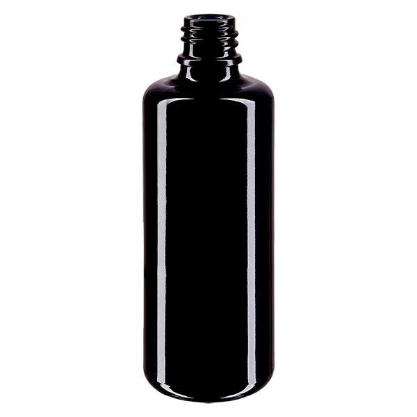 Flacon en verre violet 50 ml DIN18 (verre Miron)