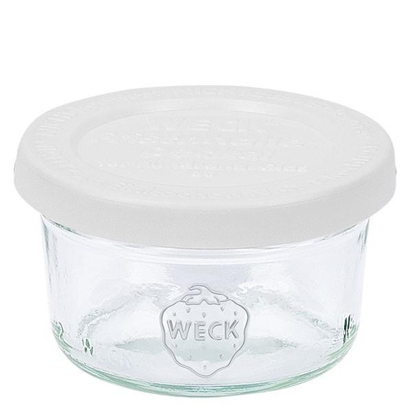 Bocal conique WECK 50 ml avec couvercle fraîcheur en plastique