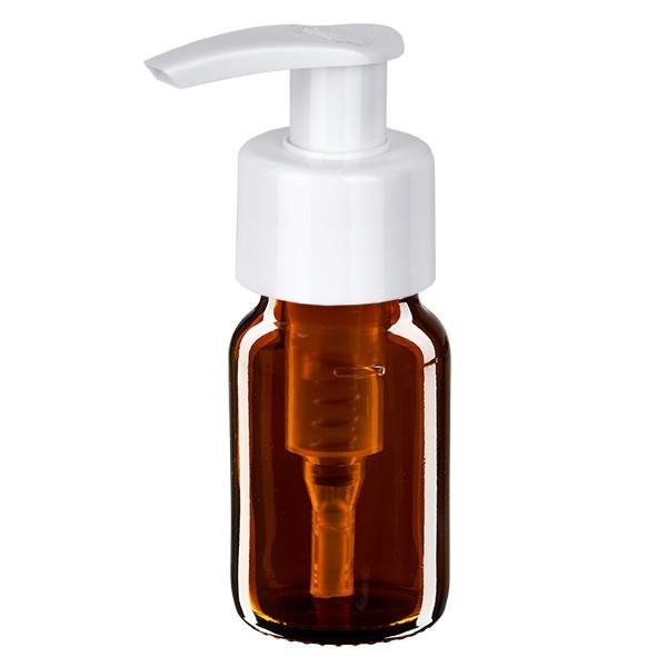 Flacon médical de 30 ml avec pompe doseuse blanche