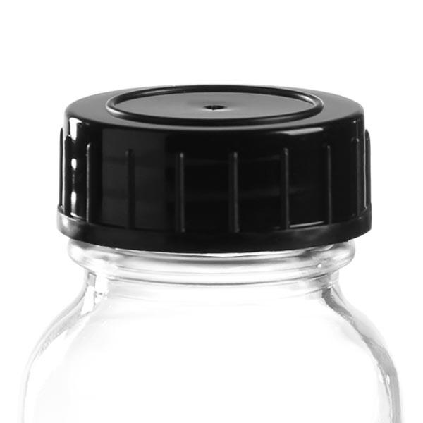 Capsule à vis en PP noir 32 mm (DIN 32)