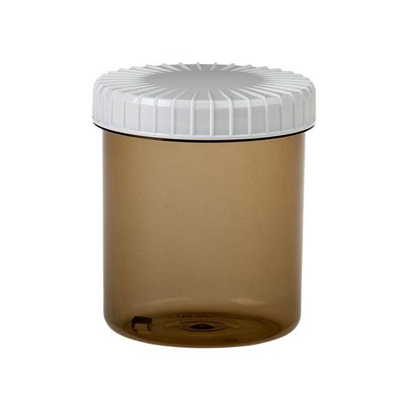 180ml Kunststoffdose (shadow transparent) mit gerilltem Deckel (weiß)