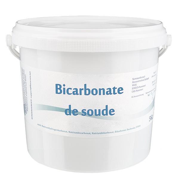 Bicarbonate de soude, seau de 5 kg, apte à l'utilisation alimentaire