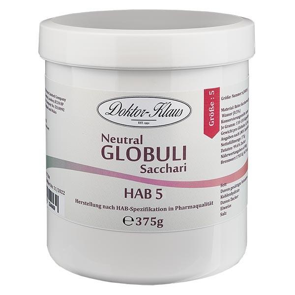 375g globules neutres HAB5, 100 % pure saccharose