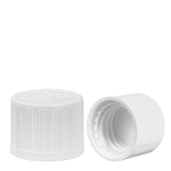 Bouchon à vis blanc 18mm, sécurité enfants standard