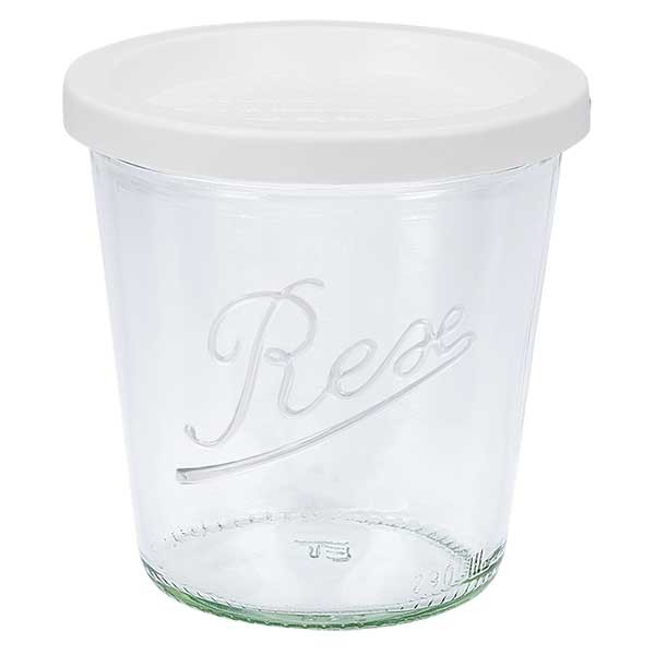 Bocal conique WECK 290 ml avec couvercle fraîcheur en plastique