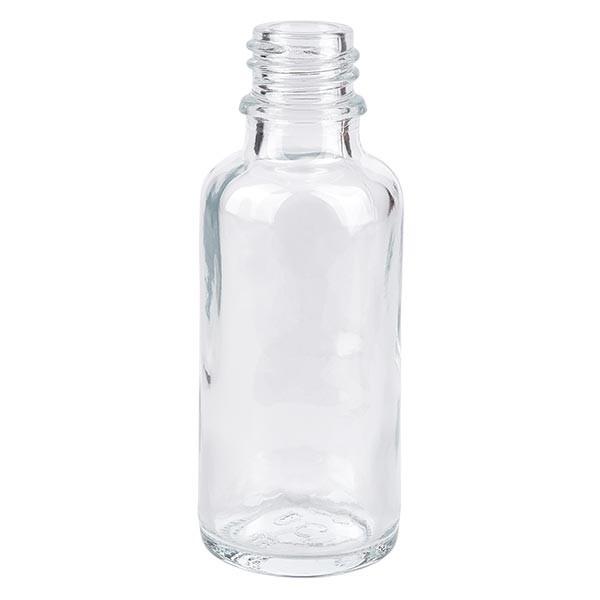 Flacon compte-gouttes 30 ml DIN18 - verre clair