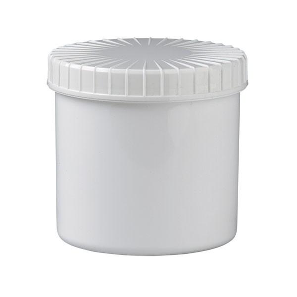 weiße Kunststoffdose 375ml mit Schraubdeckel
