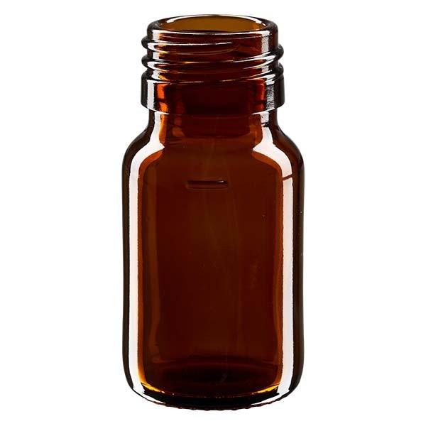 Flacon médical 30 ml couleur ambrée sans couvercle