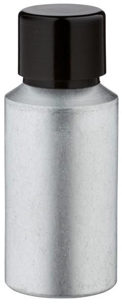 30ml Aluminium-Flasche gebeizt inkl. Schraubkappe schwarz mit Konusdichtung