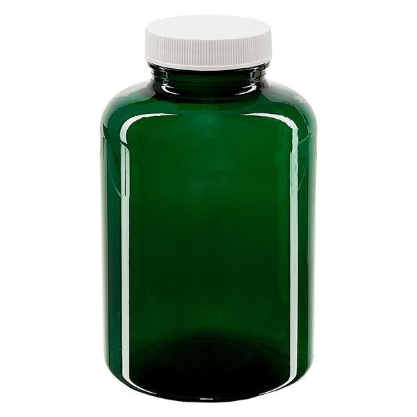 Pot Petpacker vert 500 ml, goulot 45 mm + couvercle auto-scellant et disque SFYP