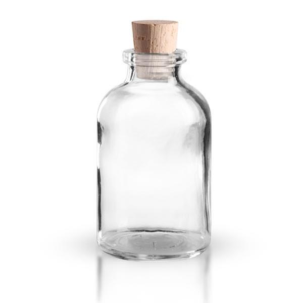 Injektionsflasche Klarglas 30ml mit Korken 11/14mm
