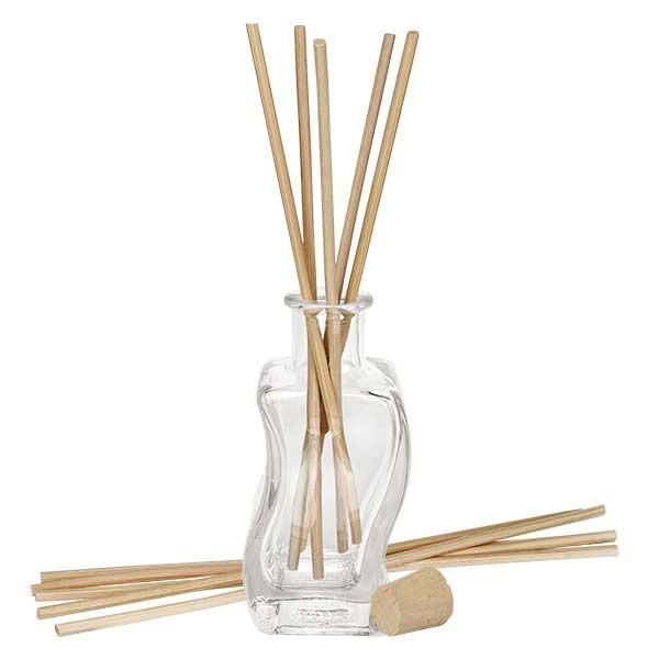 Flacon Altana 100ml + 10 bâtons à parfum clairs + bouchon de liège