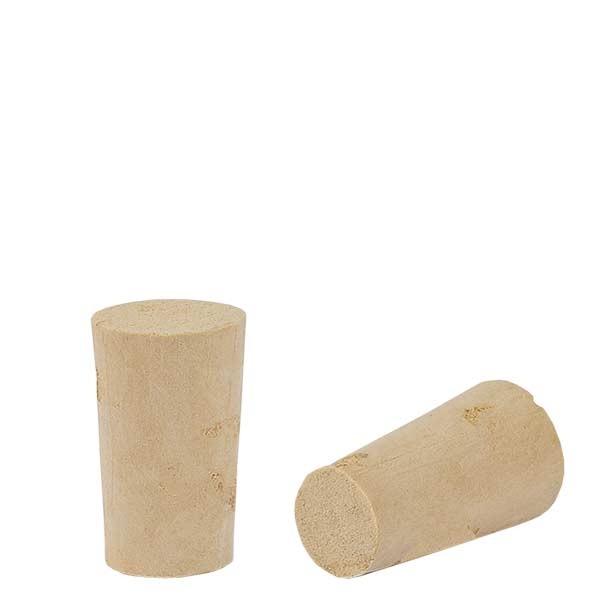 Bouchon de liège naturel (conique) 10/13mm, hauteur 22mm
