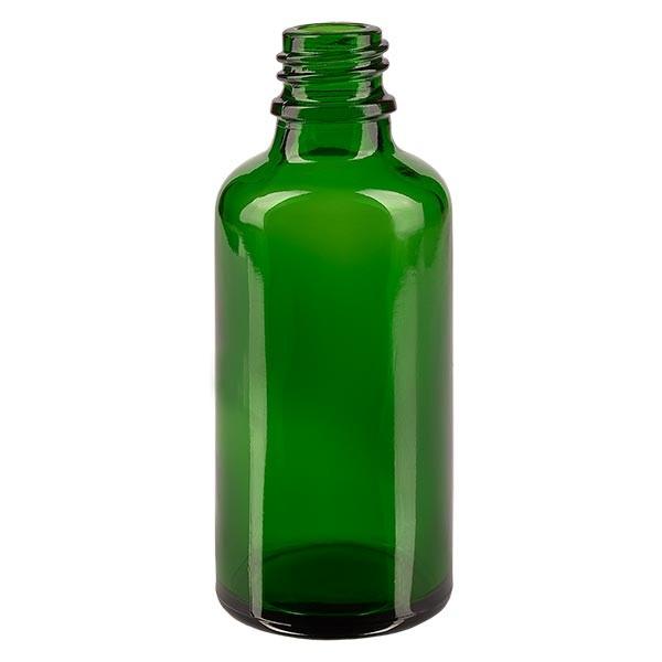 Flacon compte-gouttes vert 50 ml DIN18