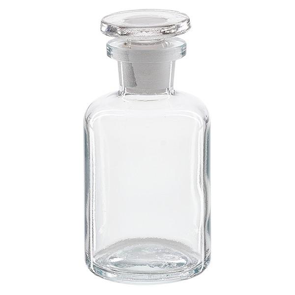 Apothekerflasche 50 ml Enghals Klarglas inkl. Glasstopfen