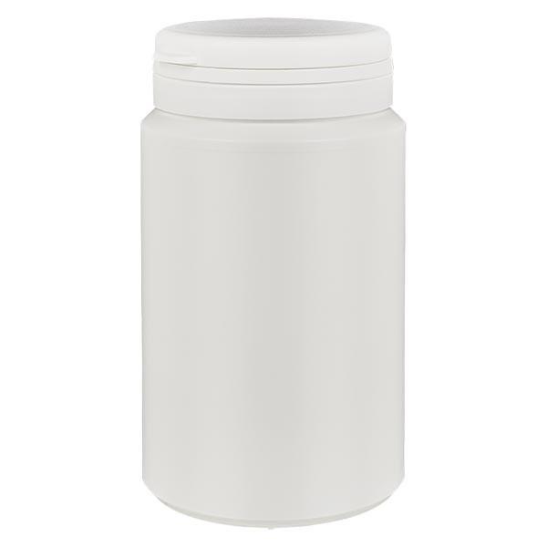 Boîte à comprimés blanche 300ml + Jaycap inviolable blanc