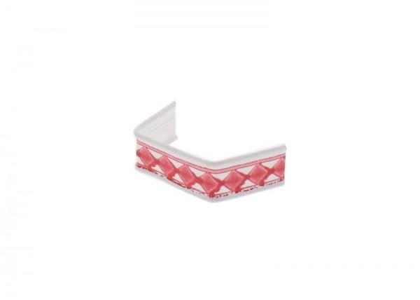 100 clips en papier, longueur 40, rouge et blanc