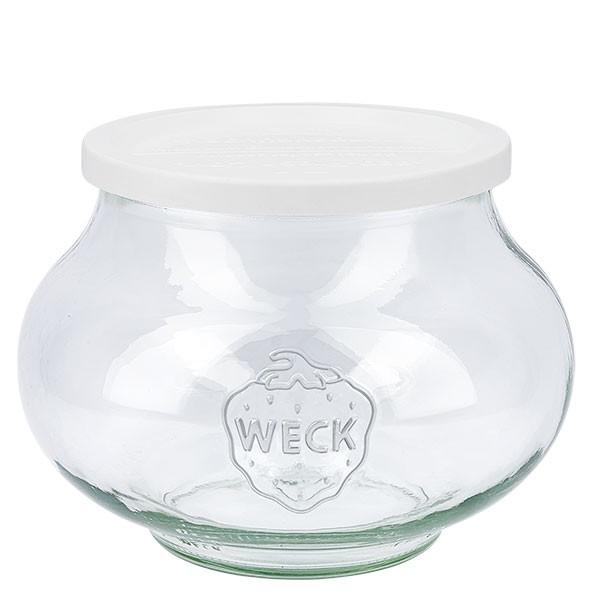 Bocal décoratif WECK 1062ml avec couvercle fraîcheur en plastique