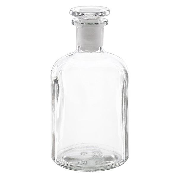Flacon pharmaceutique 250 ml col étroit en verre clair + bouchon