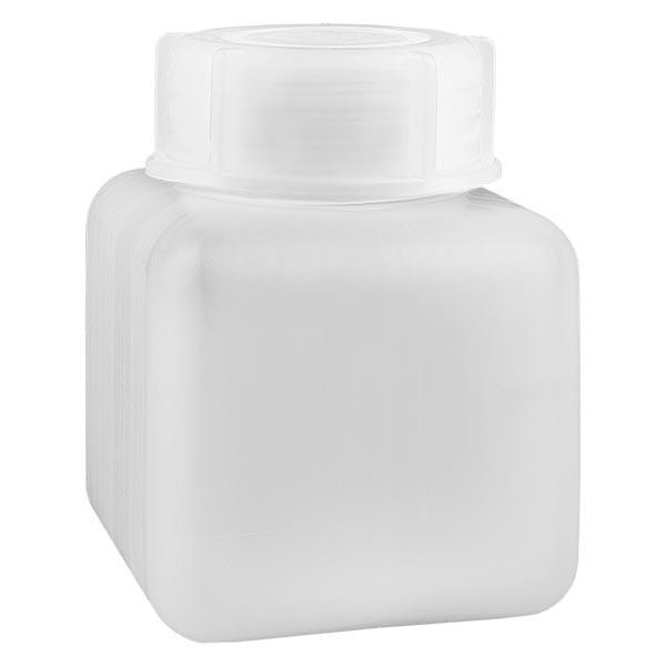 Flacon à produits chimiques 500 ml à col large, PEHD couleur naturelle, avec bouchon à vis GL 65