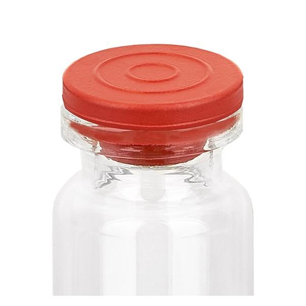 Bouchons pour flacon d'injection, en safepack, 20 mm en bromobutyle rouge