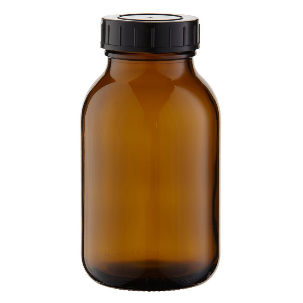 bocal col large en verre ambr 500 ml couvercle vis. Black Bedroom Furniture Sets. Home Design Ideas