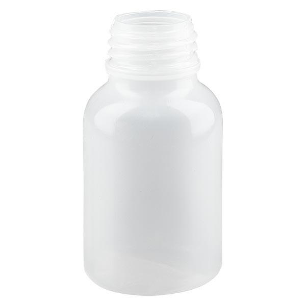 Flacon à col large 100 ml sans bouchon