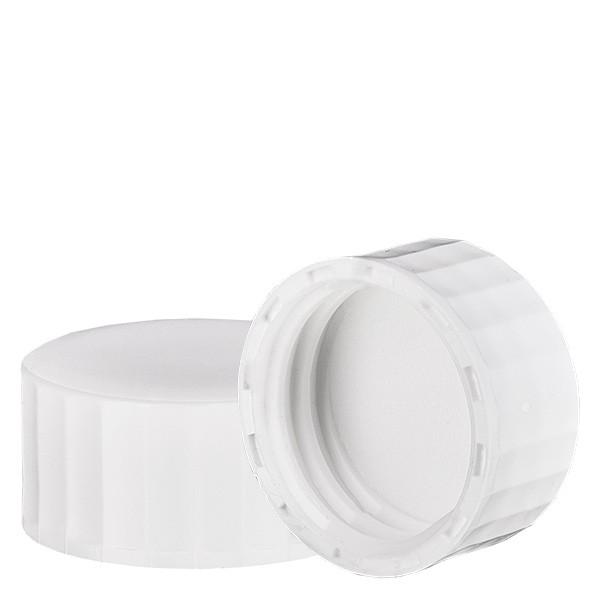 Bouchon à vis blanc avec joint en PE, S27x3