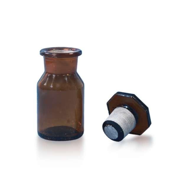 50ml Weithalsflasche / Steilbrustflasche inkl. Glasstopfen