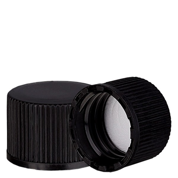 Bouchon à vis noir avec joint en PE, S20x3