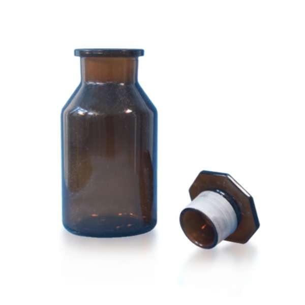 500 ml Weithals-Steilbrustflasche mit Glasstopfen
