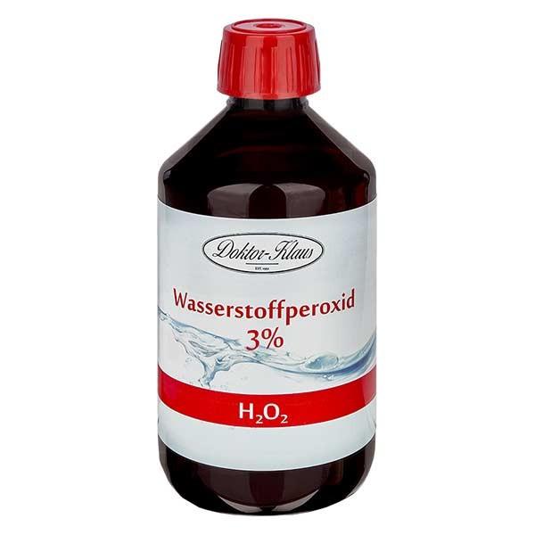 Peroxyde d'hydrogène 500ml 3% (H2O2)