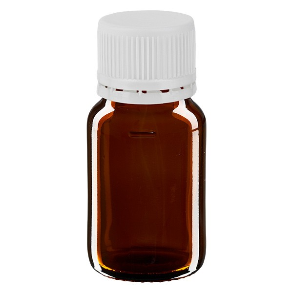 Flacon médical de 30 ml avec bouchon blanc