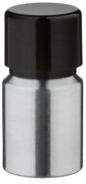 10ml Aluminium-Flasche geschliffen inkl. Schraubkappe schwarz mit Konusdichtung