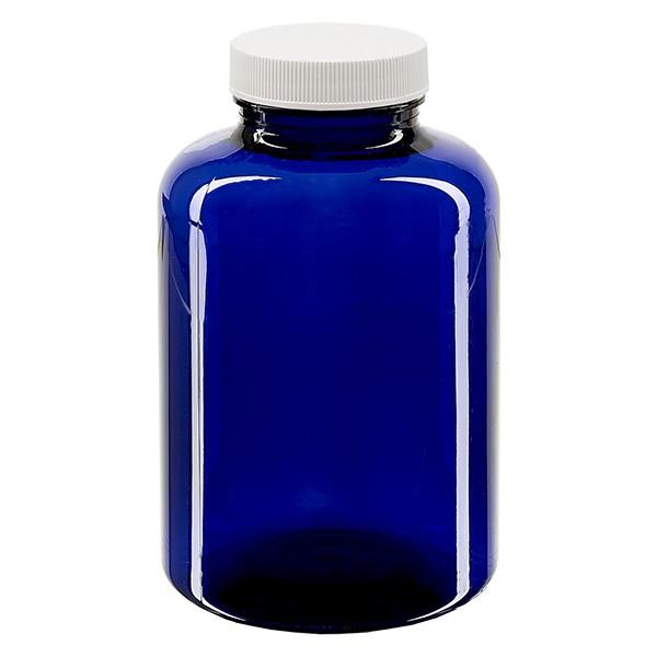 Pot Petpacker bleu cobalt 500 ml, goulot 45 mm avec couvercle étanche SFYP