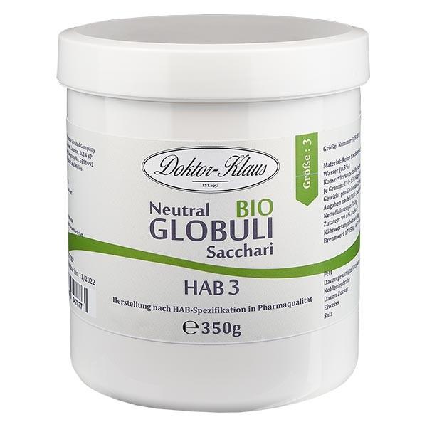 350g globules neutres bio HAB3, 100 % pure saccharose