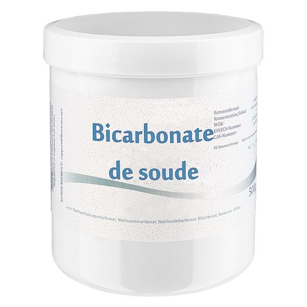 Bicarbonate de soude, en boîte blanche de 500 g, apte à l'utilisation alimentaire