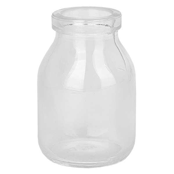 Flacon Round clair 50 ml, goulot 22 mm, sans son bouchon 22/26