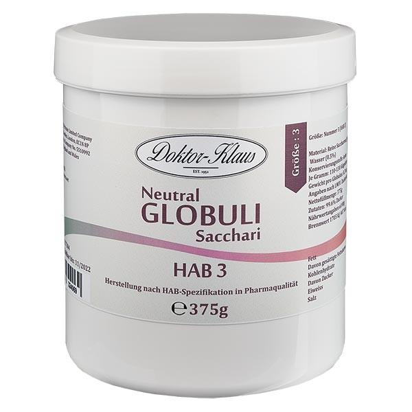 375g globules neutres HAB3, 100 % pure saccharose