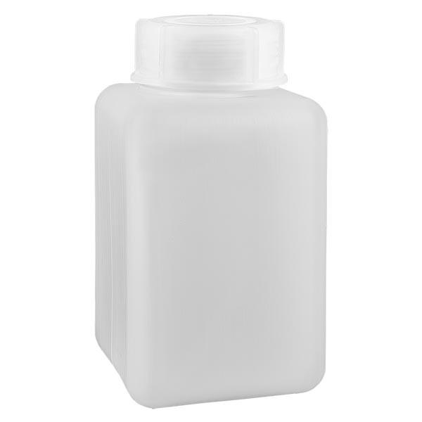 Flacon à produits chimiques 1000 ml à col large, PEHD couleur naturelle, avec bouchon à vis GL 65