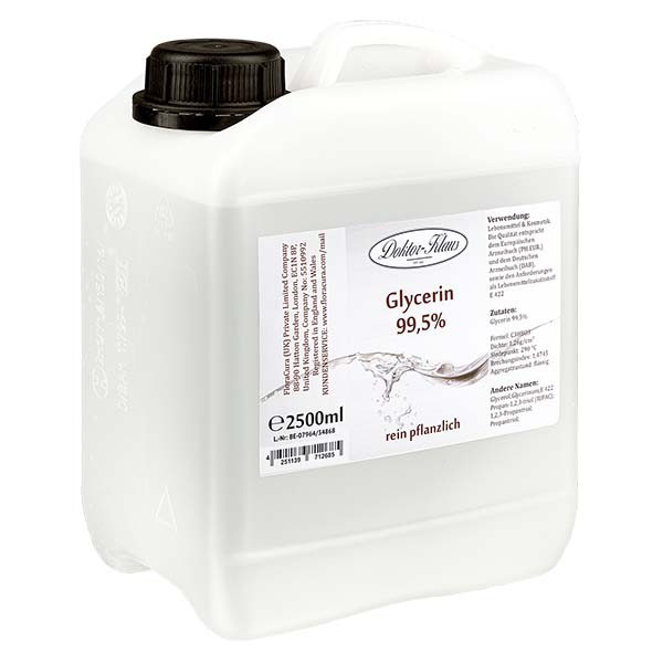 Glycérine 99,5 % Doktor Klaus dans un jerrican PEHD de 2.5 litres - E 422
