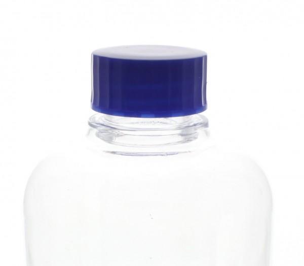 Bouchon à vis bleu avec joint en PE, S27x3